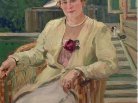 Александр Герасимов - Портрет А.К. Тарасовой (1939, х., м., ГРМ)