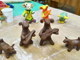 Детские работы учащихся студии керамики