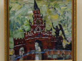 """М. Поляков - """"Башня"""" (2014 г., холст, масло)"""