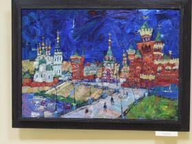 """М. Поляков - """"Красный город"""" (2014 г., холст, масло)"""