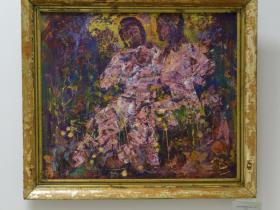 """С. Вишневский - """"Яблочный Спас"""" (ДВП, масло, 2007 г.)"""